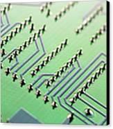 Circuit Board Canvas Print by Maria Toutoudaki