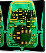 Circuit Boards Canvas Print by Adam Hart-davis