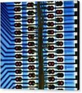 Circuit Used In Testing Microchip Functions Canvas Print by Chris Knapton