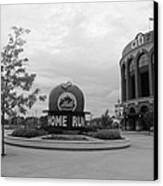 Citi Field In Black And White Canvas Print by Rob Hans