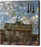City-art Berlin Brandenburger Tor II Canvas Print by Melanie Viola
