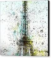 City-art Paris Eiffel Tower II Canvas Print by Melanie Viola