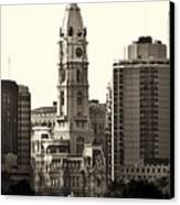 City Hall From The Parkway - Philadelphia Canvas Print by Bill Cannon