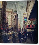 City Sidewalks Canvas Print by Laurie Search