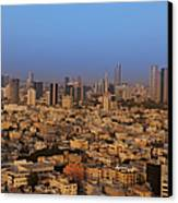 City Skyline Canvas Print by Noam Armonn