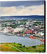 Cityscape Of Saint John's From Signal Hill Canvas Print by Elena Elisseeva