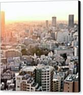 Cityscape Of Tokyo Canvas Print by Keiko Iwabuchi