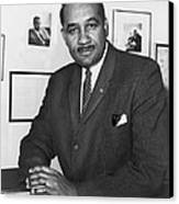 Clarence Mitchell, Jr., Head Canvas Print by Everett