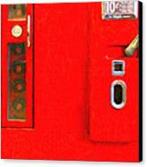 Classic Coke Dispenser Machine . Type 2 . Long Cut Canvas Print by Wingsdomain Art and Photography