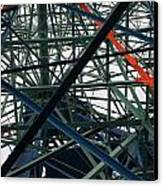 Close-up Of Ferris Wheel Mechanism Canvas Print by Todd Gipstein