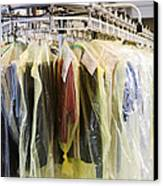 Clothing At Dry Cleaners Canvas Print by Andersen Ross