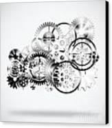 Cloud Made By Gears Wheels  Canvas Print by Setsiri Silapasuwanchai