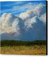 Clouds Over The Meadow Canvas Print by Jack Skinner