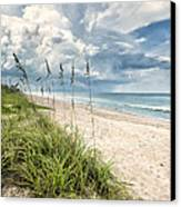 Clouds Over The Ocean Canvas Print by Cheryl Davis