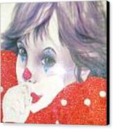 Clown Baby Canvas Print by Unique Consignment