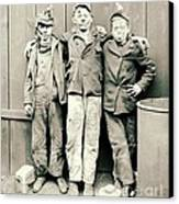 Coal Breaker Boys 1900 Canvas Print by Padre Art