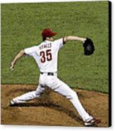 Cole Hamels Canvas Print by Gerry Mann
