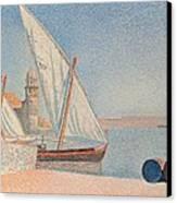 Collioure Les Balancelles Canvas Print by Paul Signac