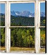 Colorado Indian Peaks Autumn Rustic Window View Canvas Print by James BO  Insogna