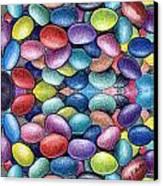 Colored Beans Design Canvas Print by Nancy Mueller