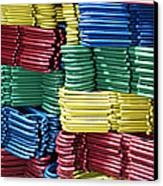 Colorful Clothes Hangers Canvas Print by Skip Nall
