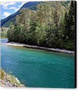 Colorful Skagit River Canvas Print by Pierre Leclerc Photography