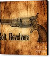 Colt Revolvers Canvas Print by Cheryl Young
