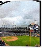 Comerica Park Home Of The Detroit Tigers Canvas Print by Michelle Calkins