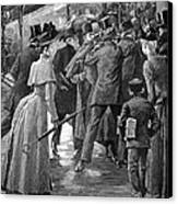 Commuter Rush Hour, 1890 Canvas Print by Granger