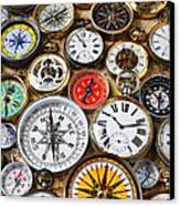 Compases And Pocket Watches  Canvas Print by Garry Gay