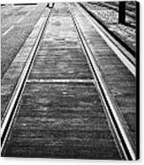Completed Tram Rails On Princes Street Edinburgh Scotland Uk United Kingdom Canvas Print by Joe Fox