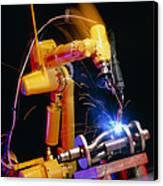 Computer-controlled Arc-welding Robot Canvas Print by David Parker, 600 Group Fanuc