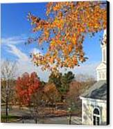 Concord Massachusetts In Autumn Canvas Print by John Burk