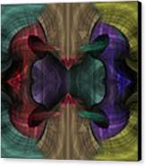 Conjoint - Multicolor Canvas Print by Christopher Gaston