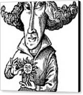 Copernicus, Caricature Canvas Print by Gary Brown