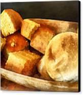 Cornbread And Rolls Canvas Print by Susan Savad