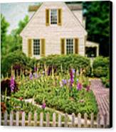 Cottage And Garden Canvas Print by Jill Battaglia