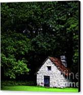 Cottage In The Woods Canvas Print by Fabrizio Troiani
