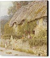 Cottage Near Wells Somerset Canvas Print by Helen Allingham