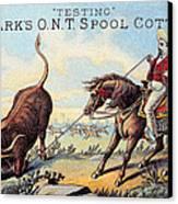 Cotton Thread Trade Card Canvas Print by Granger