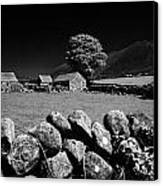 Countryside Beneath Slieve Binnian In The Mourne Mountains Northern Ireland Canvas Print by Joe Fox