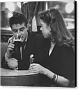 Couple In Pub Canvas Print by Picture Post