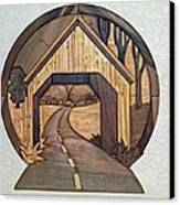 Covered Bridge Canvas Print by Bill Fugerer