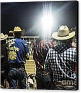 Cowboys At Rodeo Canvas Print by John Greim