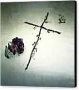 Cross Canvas Print by Joana Kruse
