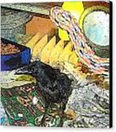 Crow In Rehab Canvas Print by YoMamaBird Rhonda