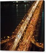 Crowded Bridge Canvas Print by SJ. Kim