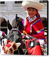 Cuenca Kids 62 Canvas Print by Al Bourassa