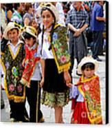 Cuenca Kids 80 Canvas Print by Al Bourassa