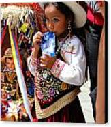 Cuenca Kids 97 Canvas Print by Al Bourassa